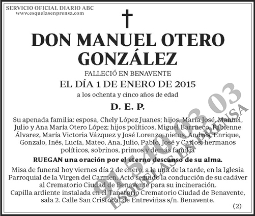Manuel Otero González